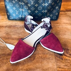 Anthropologie Gee Wawa Suede Leather Flat